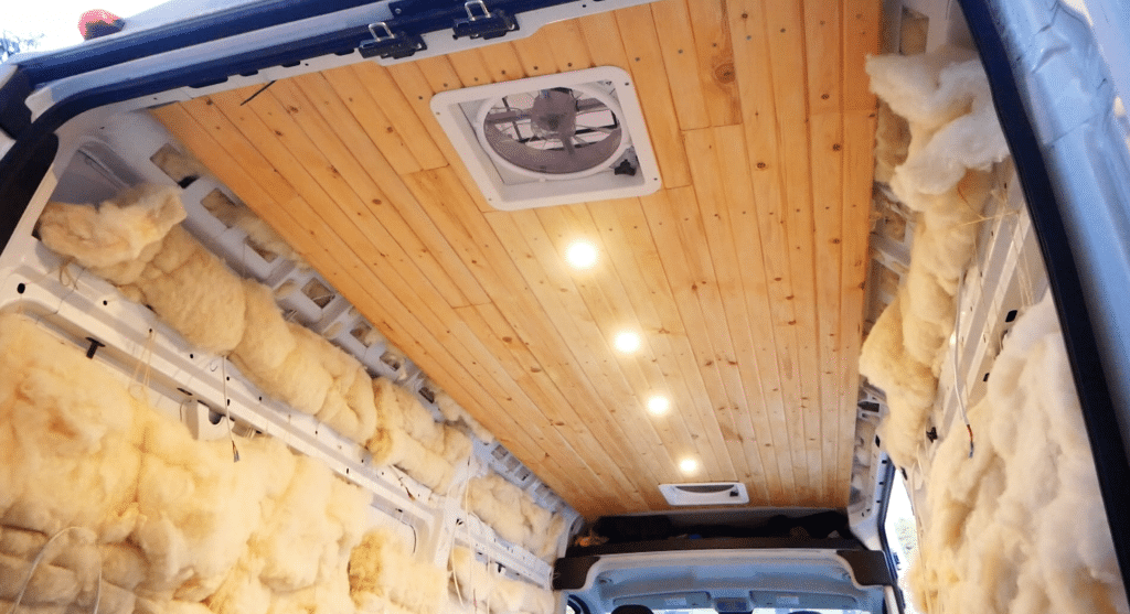 Ceiling Installation in DIY Campervan Conversions